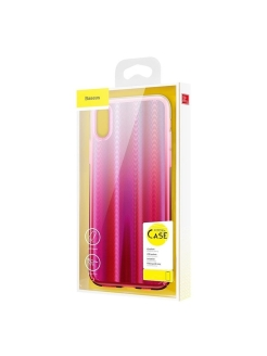 Чехол-накладка Apple iPhone XS Max Baseus Aurora Transparent Pink BASEUS