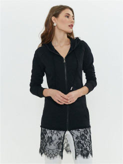 Lace hoodie with embroidery JAM8