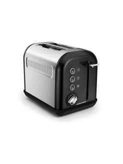 Тостер Accents Toaster Black SS 2 Slice 222013EE Morphy Richards