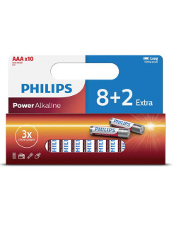 Батарейки Power LR03P10WP/10 (ААА) Philips