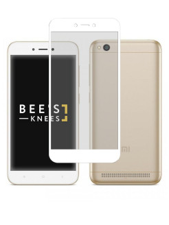 Защитное стекло для Xiaomi Redmi 5A. На полный экран. Белое Bee's Knees