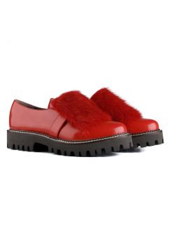 "Лоферы ""Red Mink"" RABBIT LOAFERS"