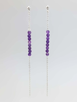 Серьги Miniature Violet Chain Alerie-Accessories