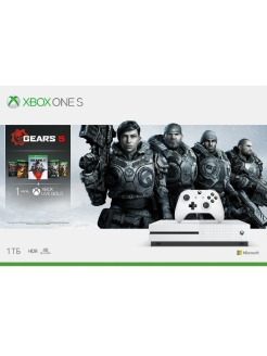 Игровая консоль Xbox One S 1ТБ + Gears 5, Ultimate-издание Gears of War 1, Gears of War 2, 3 и 4 Microsoft