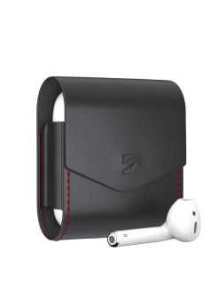 Leather Case for AirPods, Black, Deppa Deppa