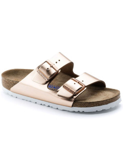 Биркенштоки Arizona NL WB Metallic Copper Narrow BIRKENSTOCK
