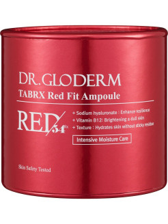 Эссенция для лица увлажняющая в ампулах TABRX Red Fit Ampoule DR. GLODERM
