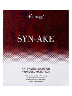 Набор гидрогелевых масок для лица SYN-AKE ANTI-AGING SOLUTION HYDROGEL MASK PACK ESTHETIC HOUSE