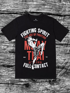Футболка Fighting Spirit Full Contact Black/Red Athletic pro.