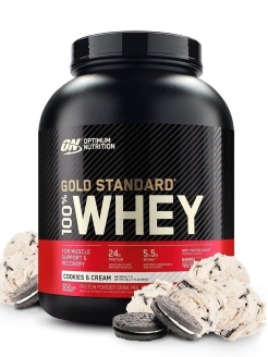 Протеин ON 100 % Whey protein Gold standard 4.63 lb (2100 г.) - Cookies and Cream (Кремовое печенье) Optimum Nutrition