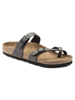 Биркенштоки Mayari BF Pull Up Anthracite VEG2 Regular BIRKENSTOCK