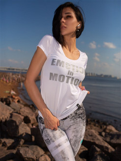 "Футболка T Shirt Motion ""White"" Bona Fide"
