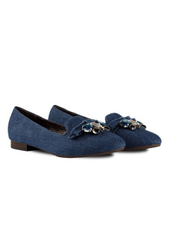 Слиперы BLUE DENIM RABBIT LOAFERS