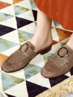 Мюли BROWN RING RABBIT LOAFERS