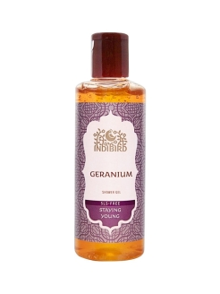 Гель для душа Герань Без сульфатов (Geranium Shower Gel SLS-free) Indibird