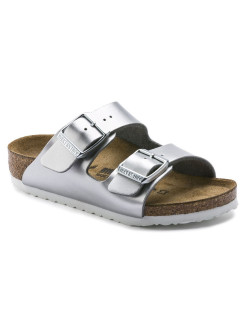 Биркенштоки Arizona Kids BF Electric Metallic Silver Narrow BIRKENSTOCK