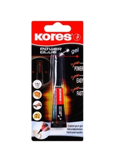 "Супер-клей ""KORES POWERGLUE GEL"" 3 гр. KORES"
