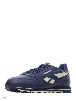 Кроссовки  CL LEATHER MU   COLL NAVY/ALABASTER Reebok