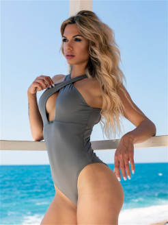 Купальник Sexy monokini swimsuit with refined neckline NEBBIA
