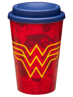 Кружка Red Wonder Woman Travel Mug Paladone