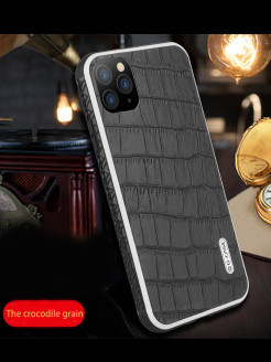 Чехол IPhone 11 Pro Monte Carlo Series Genuine Leather G-Case-Phone