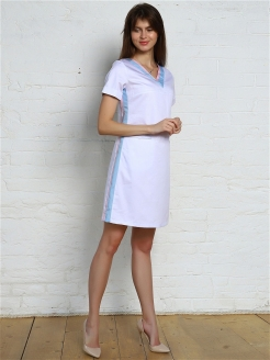 Medical dress, breathable material, with stripes PROLANA