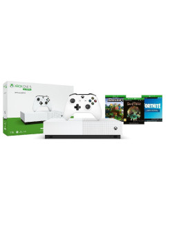 Игровая консоль Xbox One S All-Digital Edition 1ТБ + Fortnite, Sea of Thieves, Minecraft Microsoft