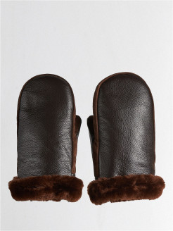 Mittens, without elements, insulated, leather Private Pilot