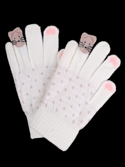 Gloves demi-season knitted children's (warmed) 1Azaliya