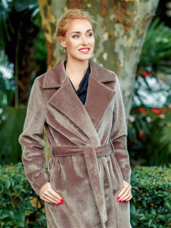 Eco fur coat mink Val'Za