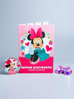 Gift set, Minnie Mouse (folder, bow and stickers) Disney