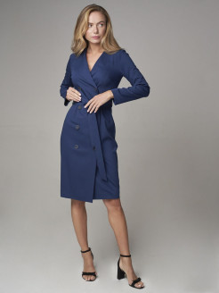 Dress, with lapels A`Kate