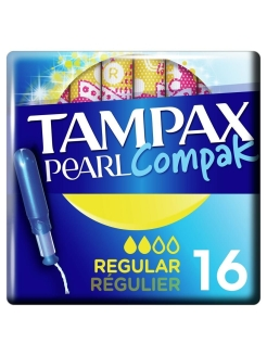 Тампоны с аппликатором Regular Duo 16 шт. Compak Pearl TAMPAX
