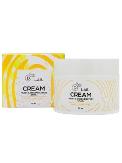 Крем для лица МУЦИН УЛИТКИ CREAM MOIST & REGENERATION SNAIL, 50 мл D2 LAB