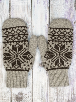 Mittens, without elements, knitted BREND ZONE
