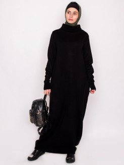 "Knitted dress ""AMINA"" / with collar / elongated dress with pockets / Muslim Yasmin"