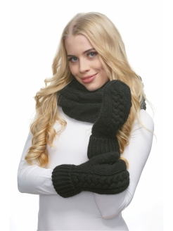 Mittens, without elements, insulated, knitted LAMBONIKA