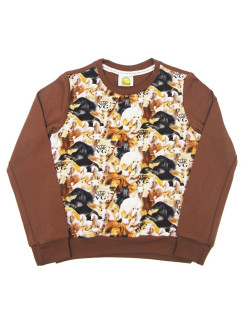Sweatshirt (sweater) for children for a boy and a girl with a drawing of a horse VAGR-RG