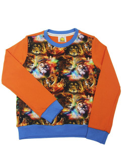 Sweatshirt (sweater) children's for boys with a drawing of a lion VAGR-RG